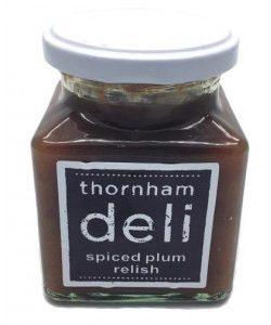 Spiced plum relish