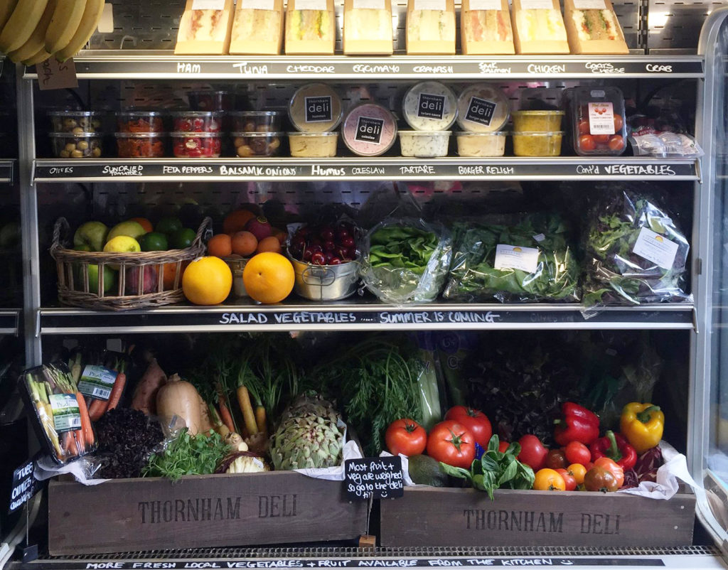 thornham Deli shelves are stocked